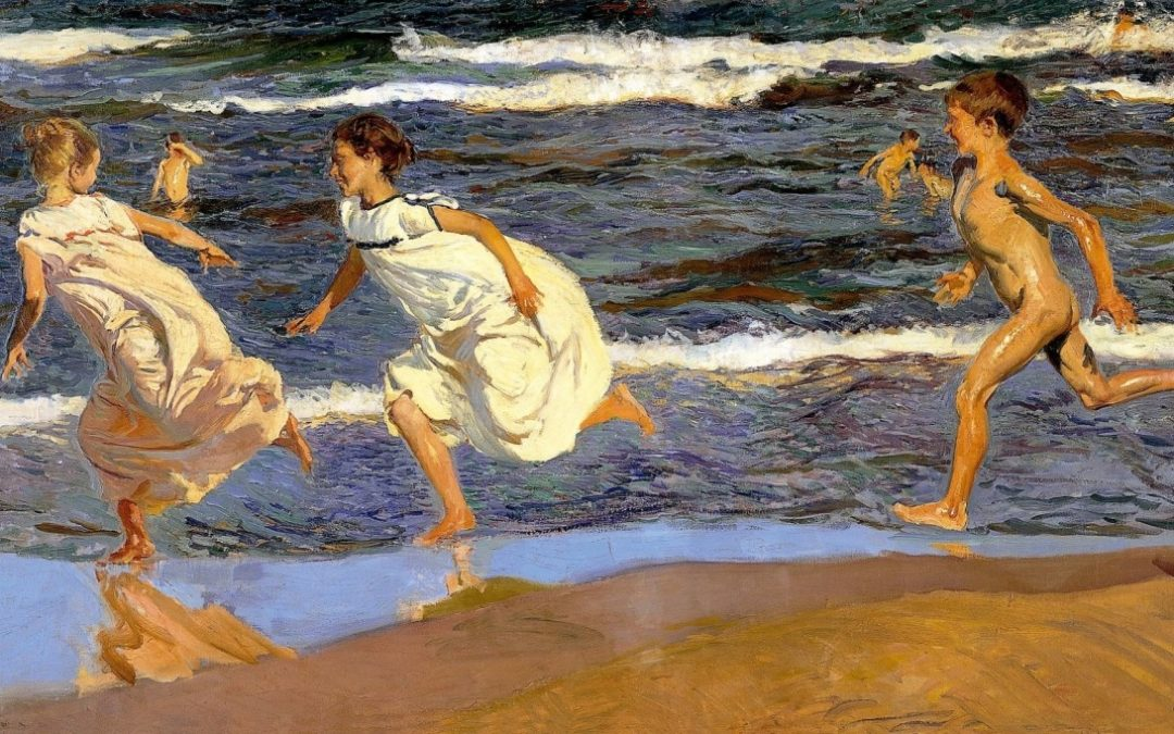 The joy of childhood and the sea celebrated in art