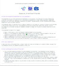 International Hazards Datasheet (for seaman/seawoman)