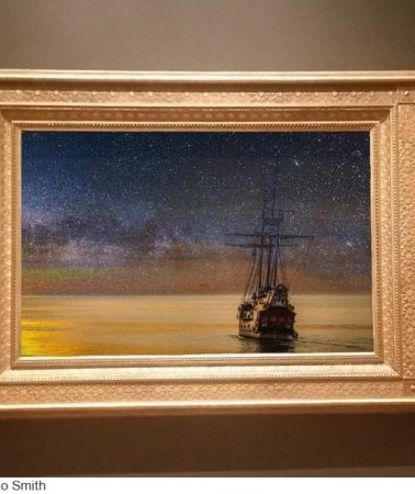 Promoting art in a shipping world crazed by money
