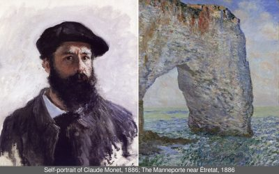 Art vs. reality: Claude Monet's paintings of Étretat