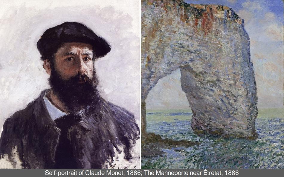 Art vs. reality: Claude Monet's paintings of Étretat