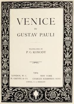 Venice by Gustav Pauli