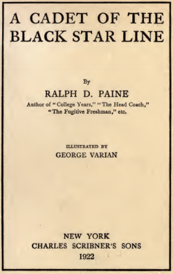 A Cadet of the Black Star Line by Ralph D. Paine