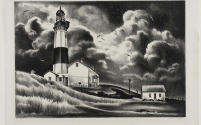 The ageless charm of lighthouses in old drawings and prints