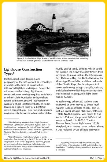 Lighthouse Construction Types (illustrated article in PDF)