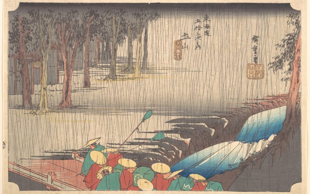 Feeling the rain in Eastern and Western works of art